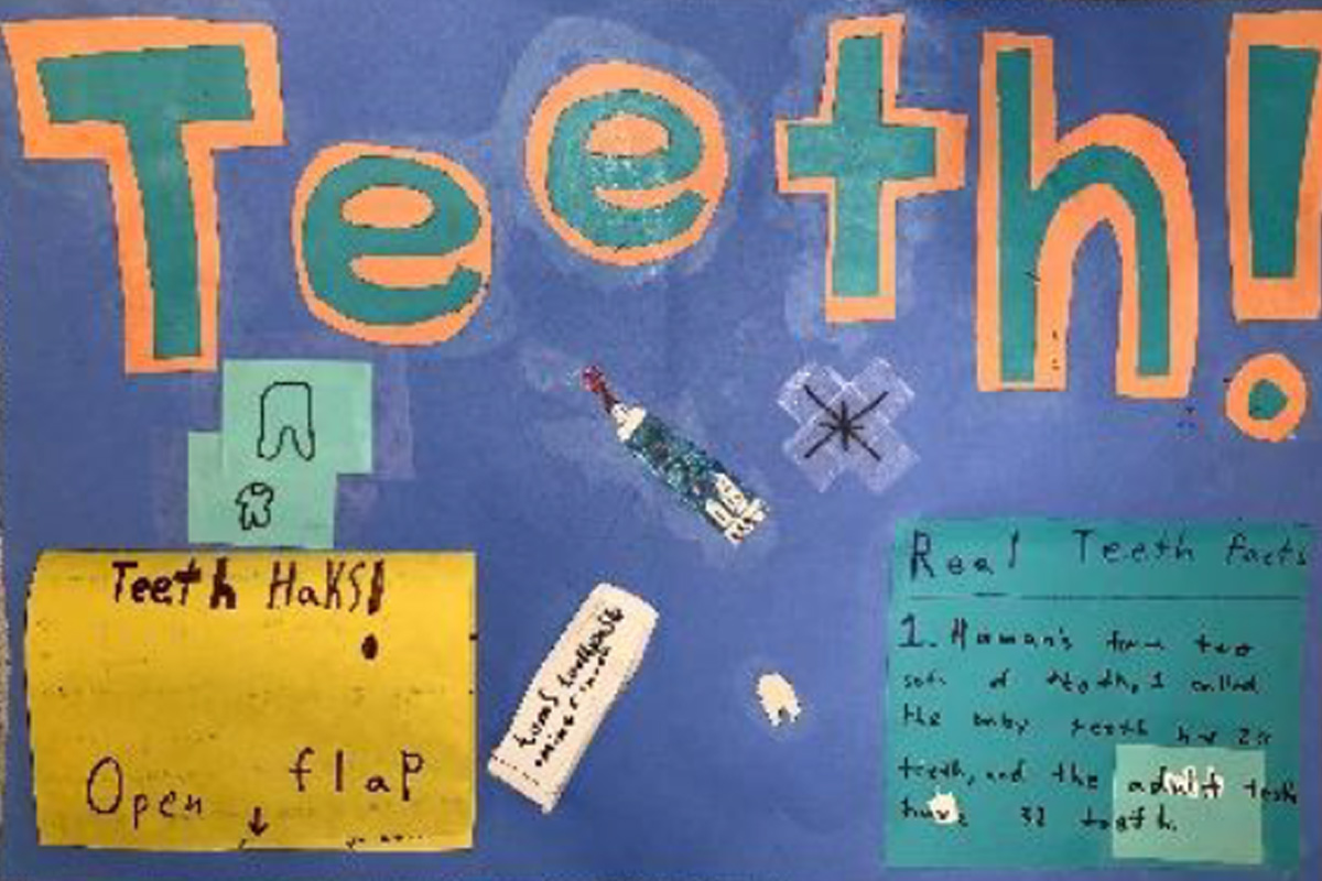 Homemade Kids' Dental Health Poster