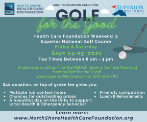Golf for the Good - NSHCF Weekend at Superior National Golf Course Sept 24-25, 2021